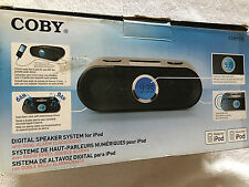 COBY CS-MP125 DUAL ALARM/CLK RADIO WITH DOCK FOR Iphone 1-4 or IPOD FOR 110-240v