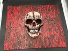 Skull Original Painting Art By Aaron Goodwin 1/1 Canvas Size 16x20 Mask