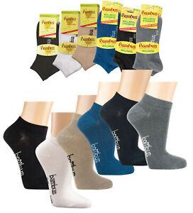 3-15 Paar Bambus Viskose Sneaker Socken Sneakersocken für Damen Herren WO