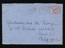 GB 1922 to BELGIUM SLOGAN CABLE to CANADA AUSTRALIA NZ...3d SINGLE FRANKING