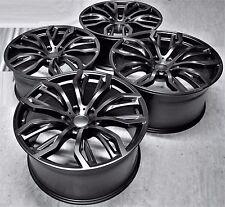 """22"""" NEW BMW X6 M STYLE BLACK STAGGERED WHEELS RIMS FIT X5 X6 E53 E70 E71 M 1166"""