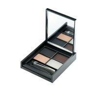 MUA Brow Kit Eyebrow Kit With Wax 3 Colours Brush, Tweezers, & Mirror 2 Shades