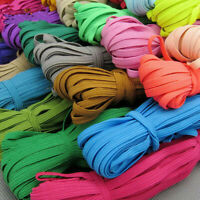 1Roll 10yds 6mm Thickening Satin DIY Elastic Band Trim Sewing Spandex Lace