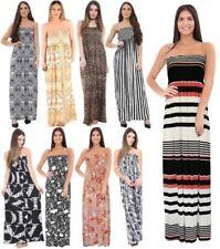 Viscose Strapless Dresses for Women's Maxi Dresses