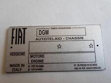 Scudo Piastra Fiat 850 131 132 130 128 124 126 500 auto d'epoca Blankoschild