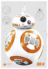 Komar Star Wars Adhesivo de Pared 14726 Droide BB-8 Adhesivo Pared Autoadhesivo