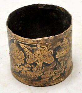 Antique Brass Small Grain Measurement Paili Pot Original Old Hand Crafted