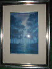 """Watercolor Painting """"Cypress"""" by Neil Sulier  framed and matted"""