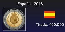 VENDO MONEDA DE 2 EUROS CONMEMORATIVA  ESPAÑA  2018.50Aniversario Felipe VI. S/C