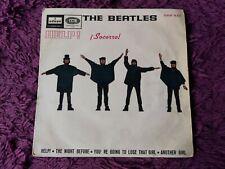 """The Beatles – Help! Vinyl 7"""" EP 1965 Spain DSOE 16.675"""
