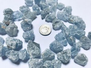1 Small Piece of Natural Celestite  Crystal with free organza bag