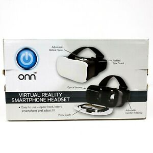 Onn Virtual Reality Smartphone Headset iPhone Samsung Smartphones Black White