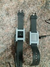 2 × PEBBLE 301GR watches Grey. Untested.  charging cables (see description)