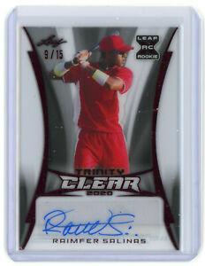 2020 Leaf Trinity Clear Red Raimfer Salinas RC Autograph Auto 9/15 YANKEES