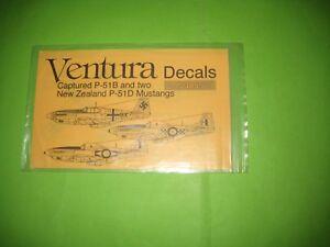 """P-51 B & P-51 D (RNZ AF) """"GERMAN CAPTURED"""" BY VENTURA DECALS 1/48 - V4855"""