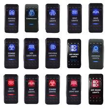 Auto KFZ 12V/24V Wippschalter Wippenschalter LED beleuchtet Einbauschalter