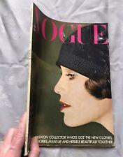 British VOGUE Magazine: January 1980 (vintage condition, some creasing)
