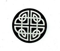 Patch ecusson brode thermocollant backpack symbol celtique trieskel triquetra