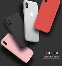 iPhone X 10 Hülle Silikon leicht durchsichtig Dünn Soft Case grau pink weiß rot