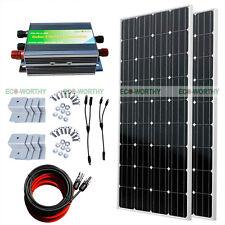 300W Complete Kits: 2*160 Watts Mono Solar Panel 12V 24V RV Boat Charge Off-Grid