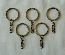 Antique Bronze Key Chain Fob Set of 5