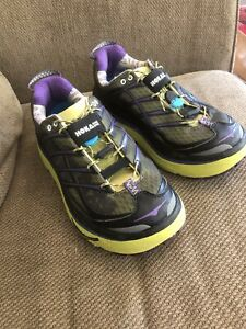 Hoka One One Mafate 3 Womens Size 8 Athletic Trail Running Shoes, Hubble!