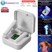 Bluetooth 5.0 Earbuds LED TWS Wireless Mini Stereo Earphones Headphones Headset