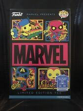 Funko Marvel Black Light Pop Tees 2XL Target Exclusive Sold Out In-Hand!