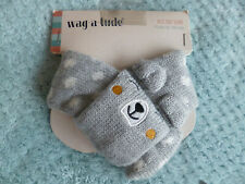 BNWT, WARM, GREY SCARF WITH BEAR DESIGN FROM WAG-A-TUDE -  EXTRA SMALL/SMALL
