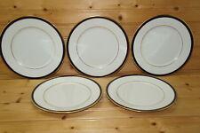 "Lenox Oxford Annapolis Blue (5) Salad Plates, 8 1/8"""