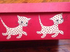 Vtg Mid Century Empty Kittens Kittenettes Cat Graphics Kitty Shoe Box Only