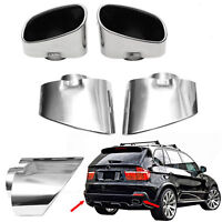 Chrome Sport Exhaust Tip Trim Pipe Muffler Stainless Steel Set Fits Bmw X5 Е70
