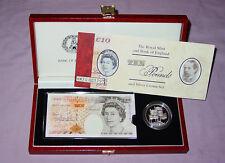 1996 Conjunto de Billetes De £ 10 Con Corona De Plata Prueba £ 5 en Caja De Lujo