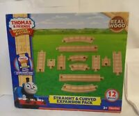 Thomas and Friends Wooden Railway Straight and Curved Expansion Pack, 12 Pieces