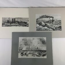 Lot of 3 Canadian History Illustrated News CBC TV Illustration Boards
