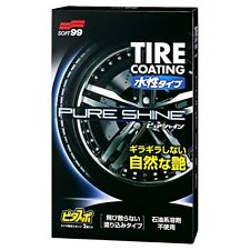 SOFT99 Water Based Tire Coating PURE SHINE Tyre Dressing 100ml