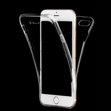 360° Full Cover Front Back Clear Silicone Case Skin for Apple iPhone 6S 7 Plus 8