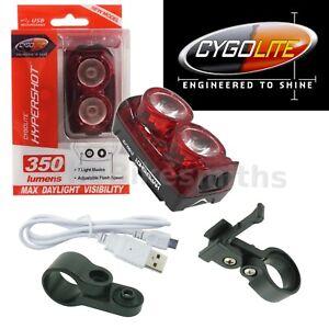 Cygolite Hypershot 350 Lumen Tail Light USB Rechargeable Flashing Rear Bike LED