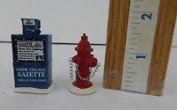 Dept 56 The Original Snow Village Fire Hydrant & Paper Box #809013 New