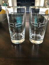 Indianapolis 500 glasses, vintage Golden Anniversary 1911-1961, set of 2, RARE