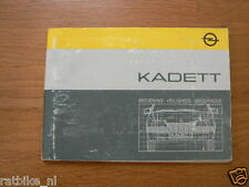 OPEL KADETT HANDLEIDING 1985 OWNERS MANUAL,INSTRUCTION BOOK