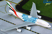 """Emirates A380 """"Blue Expo 2020"""" A6-EOC Gemini Jets G2UAE779 Scale 1:200 IN STOCK"""