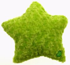 "Green Star Pillow Color LED Light Up Flash Plush Throw Couch Bed 13"" Microbeads"