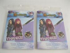 New! Lot Of 2 Packs Disney Descendants Thank You Card Kits - 8 /Pack-16 Total