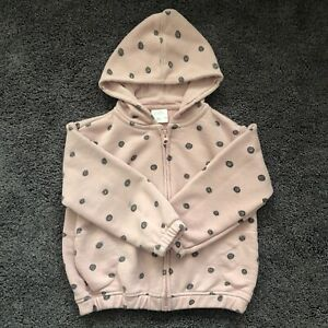 Zara Baby Girls Pink Spotty Hoodie Age 4-5 Years