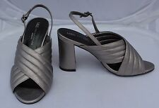 NEW M&S Collection Insolia Pewter Sandals with Cross Over Straps Sze 5 Wider Fit