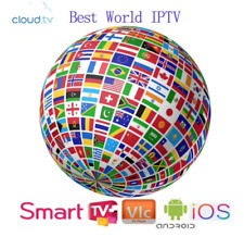 IP TV SUBSCRIPTION 12 months World HD Channels 7900+Live 6000+VOD Sports Movies