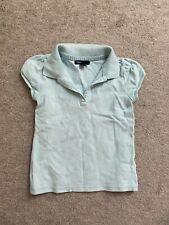 Gap Girls Polo Shirt sz 6 - 7 / S Small School Uniform Light Blue Short Sleeve