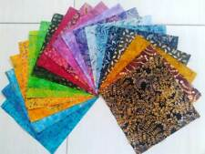 "Indonesian Batik fabrics 20 pieces 10"" squares, layer cake for patchwork quilts"