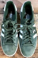 USED Adidas Originals Campus Olive Green White Shoes Women's Sizes: (9 ) BY9842